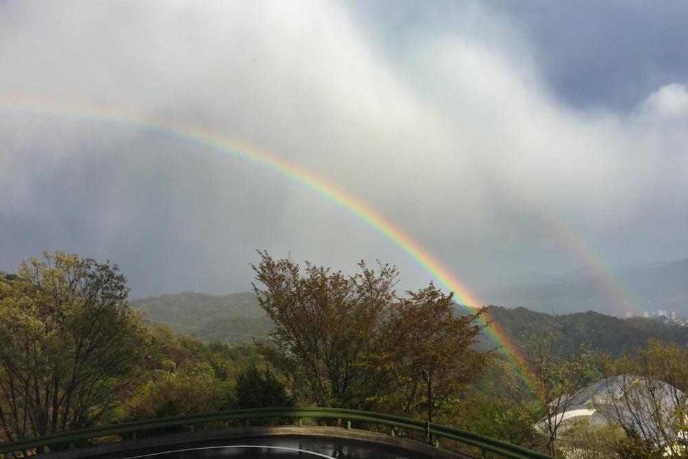 20180407二重の虹が現れました