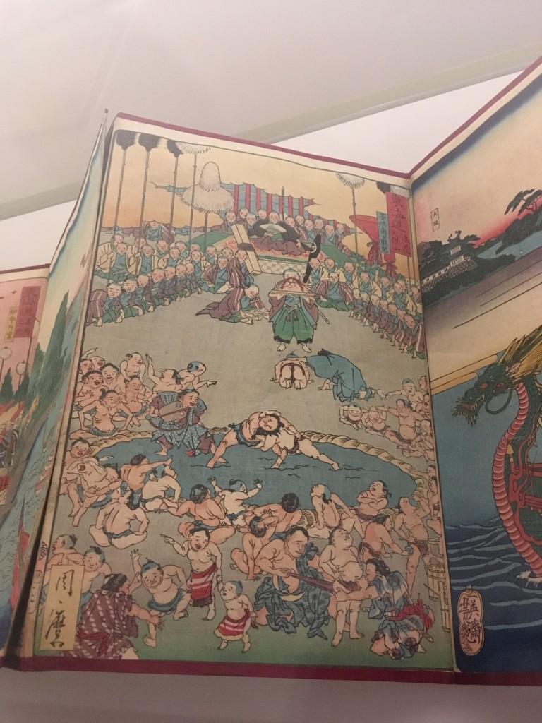 『東海道 浪花享保山』《東海道名所風景》1863年、国立ギメ東洋美術館蔵